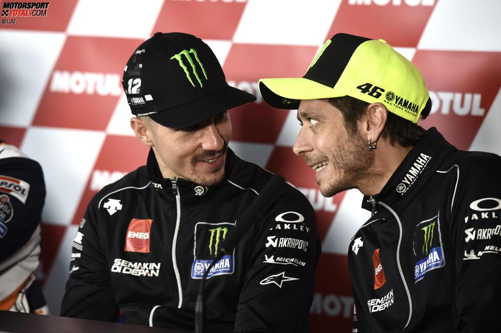 Maverick Vinales und Valentino Rossi