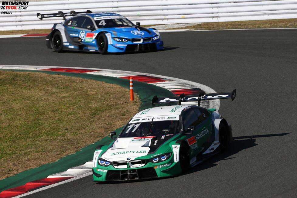 Marco Wittmann (RMG-BMW) und Kamui Kobayashi