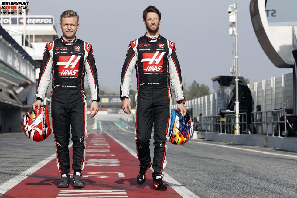 Kevin Magnussen und Romain Grosjean (Haas)