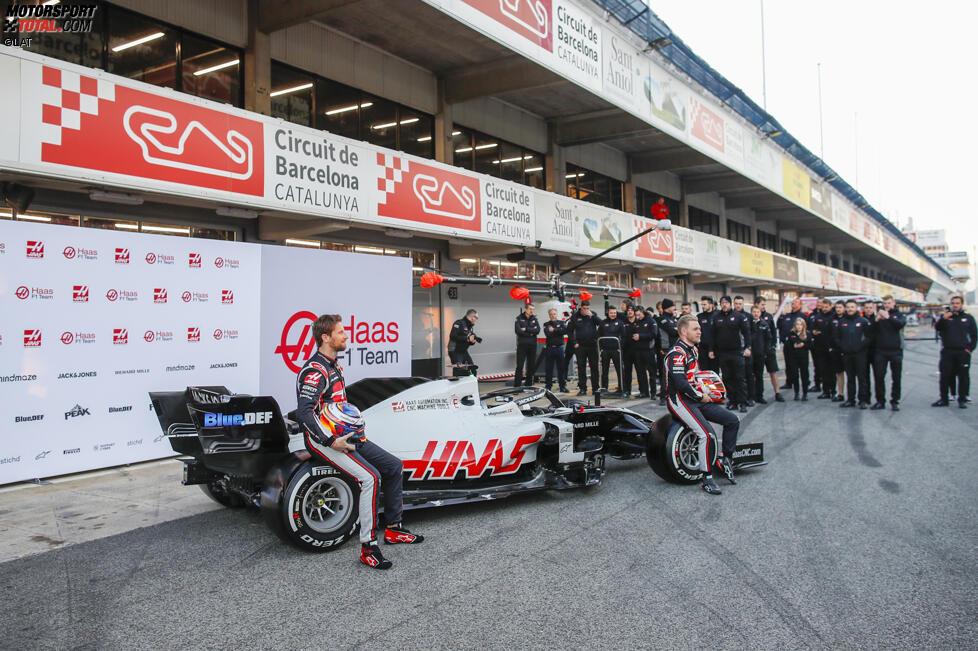 Romain Grosjean (Haas) und Kevin Magnussen (Haas)