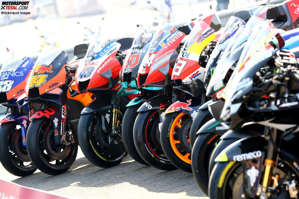 Die MotoGP Bikes 2020