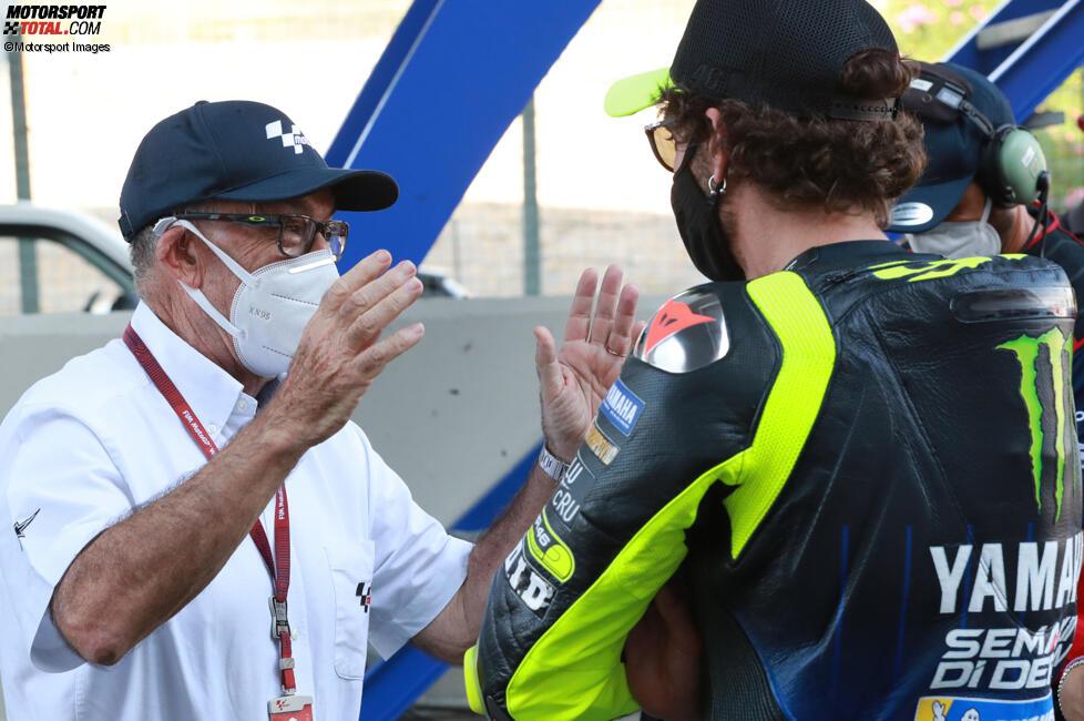 Carmelo Ezpeleta und Valentino Rossi