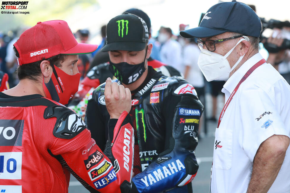Andrea Dovizioso (Ducati) und Maverick Vinales (Yamaha)