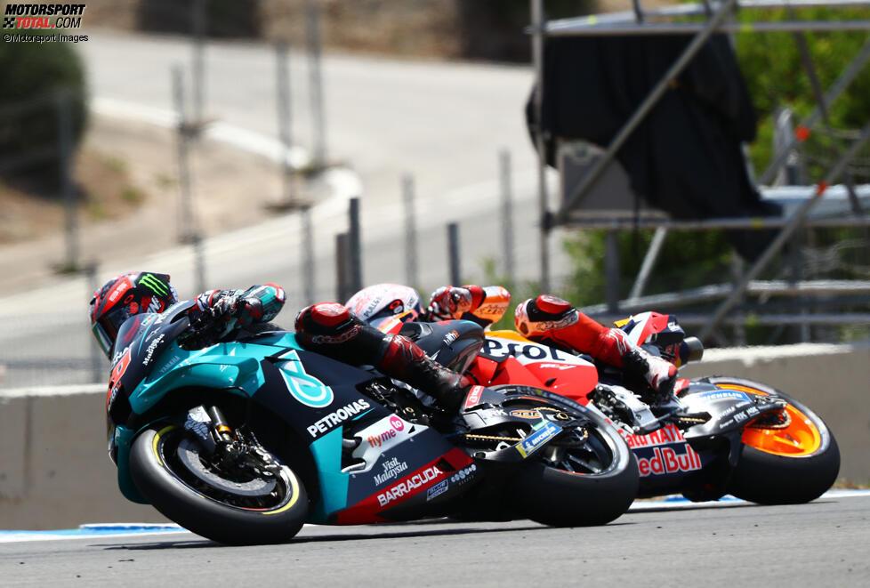 Fabio Quartararo (Petronas) und Marc Marquez (Honda)