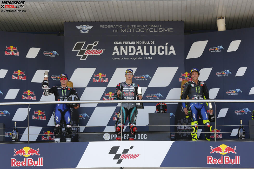 Maverick Vinales, Fabio Quartararo und Valentino Rossi