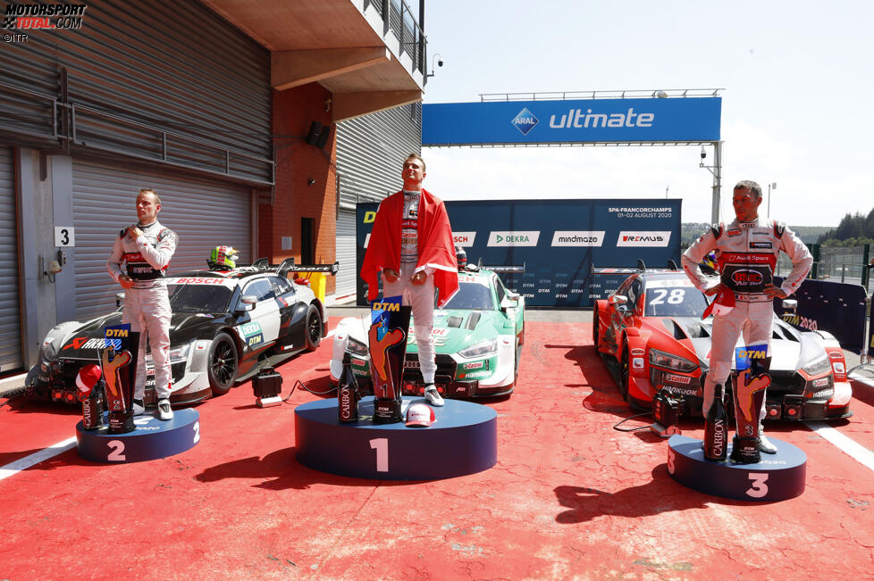 Jamie Green (Rosberg-Audi) und Loic Duval (Phoenix-Audi)