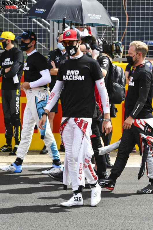 Nicholas Latifi (Williams), Antonio Giovinazzi (Alfa Romeo) und Kevin Magnussen (Haas)