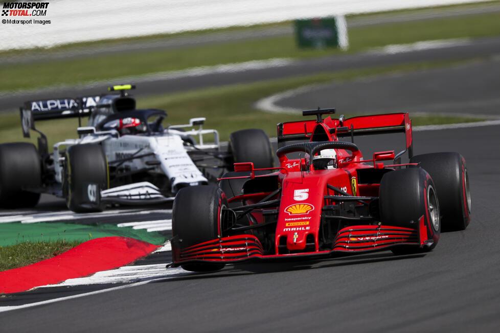 Sebastian Vettel (Ferrari) und Pierre Gasly (AlphaTauri)
