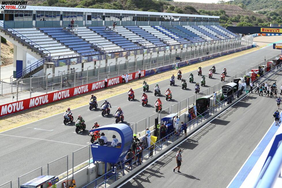 Startaufstellung Jerez