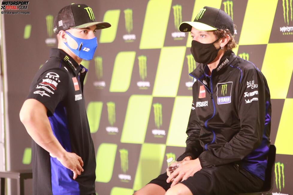 MMaverick Vinales und Valentino Rossi