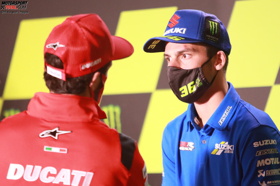 Andrea Dovizioso (Ducati) und Joan Mir (Suzuki)