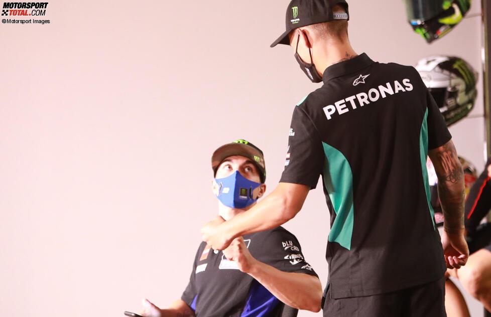Maverick Vinales (Yamaha) und Fabio Quartararo (Petronas)