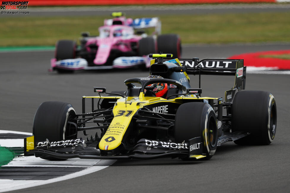 Esteban Ocon (Renault) und Lance Stroll (Racing Point)