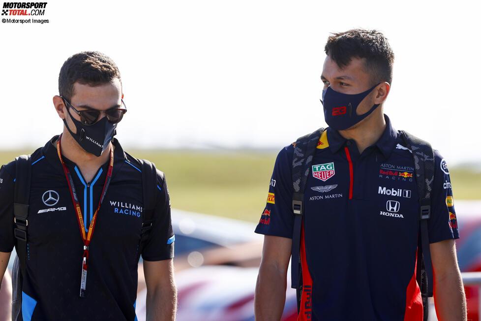 Nicholas Latifi (Williams) und Alexander Albon (Red Bull)
