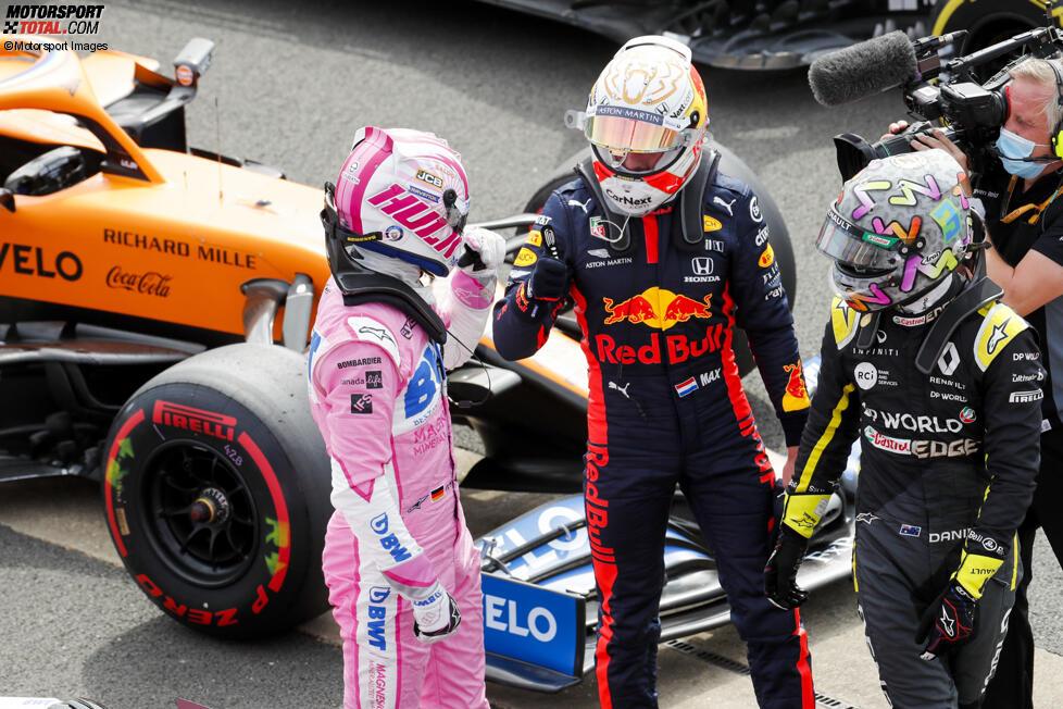 Max Verstappen (Red Bull) und Nico Hülkenberg (Racing Point)