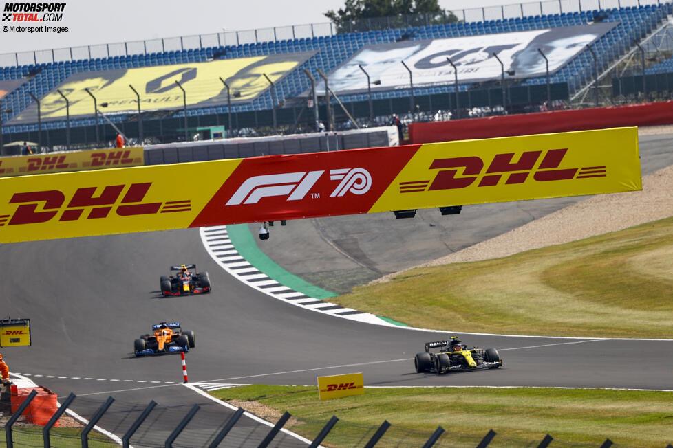 Esteban Ocon (Renault), Carlos Sainz (McLaren) und Alexander Albon (Red Bull)