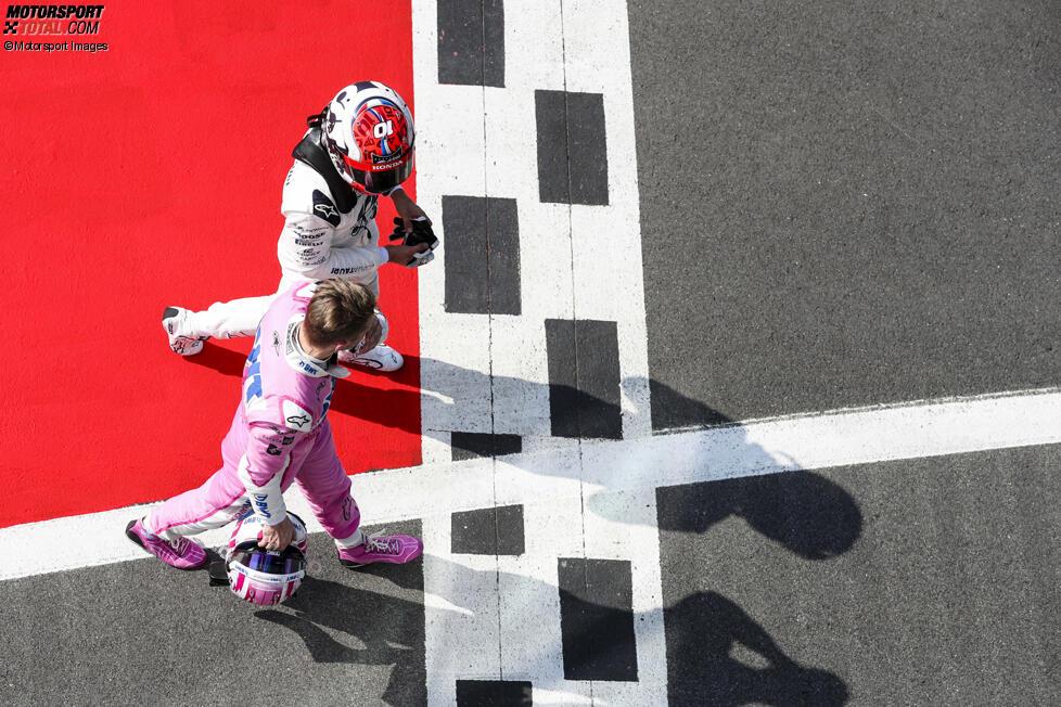 Pierre Gasly (AlphaTauri) und Nico Hülkenberg (Racing Point)