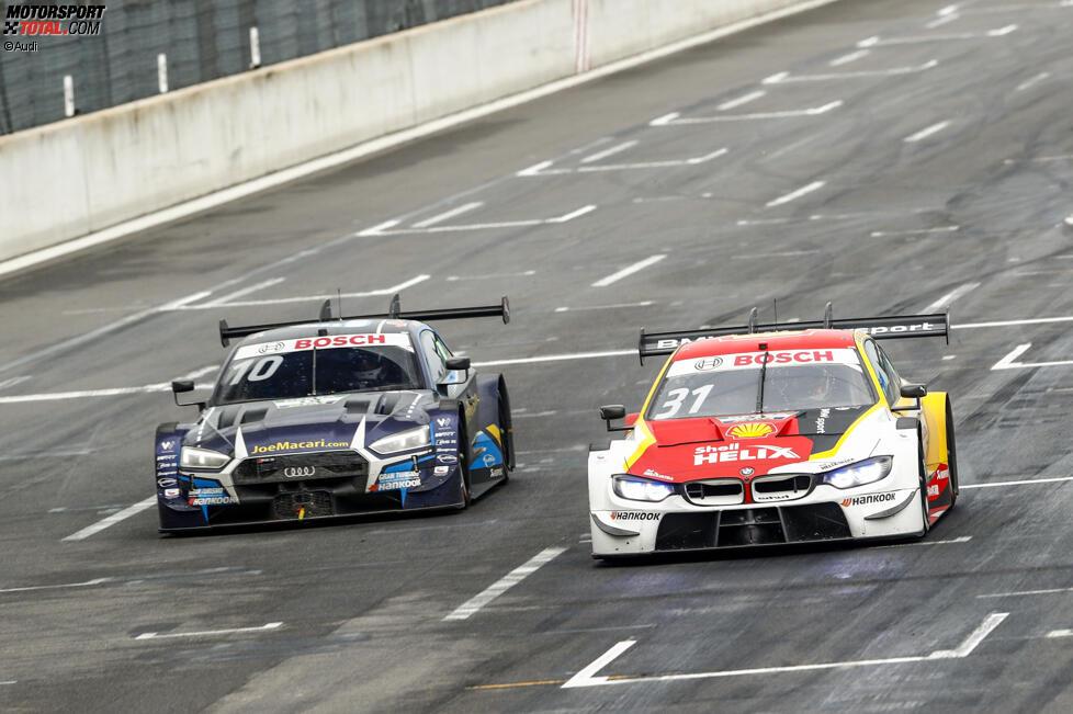 Harrison Newey (WRT ) und Sheldon van der Linde (RBM-BMW)