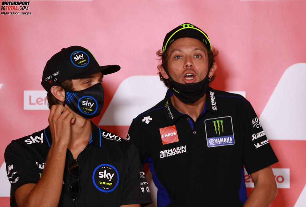 Luca Marini und Valentino Rossi