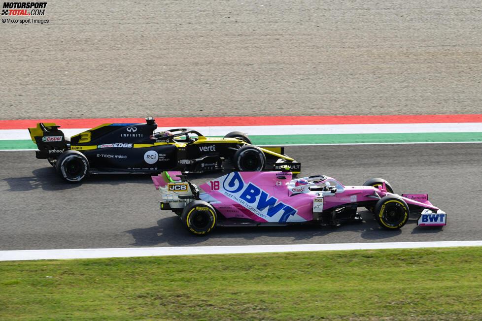 Lance Stroll (Racing Point) und Daniel Ricciardo (Renault)
