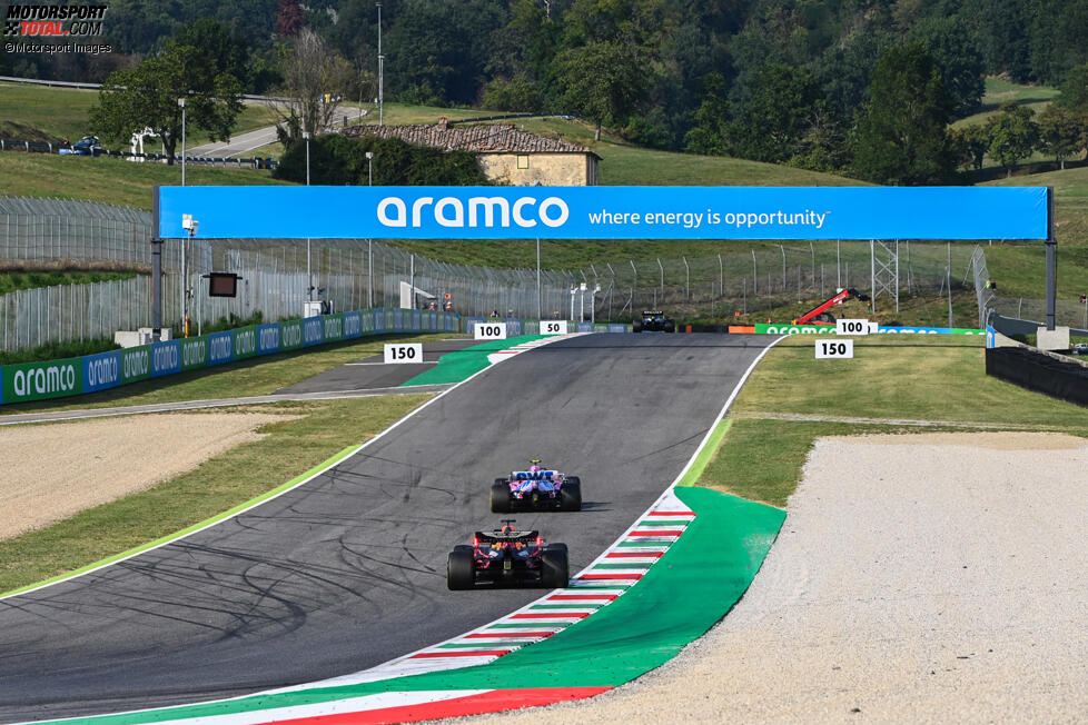 Lance Stroll (Racing Point) und Max Verstappen (Red Bull)