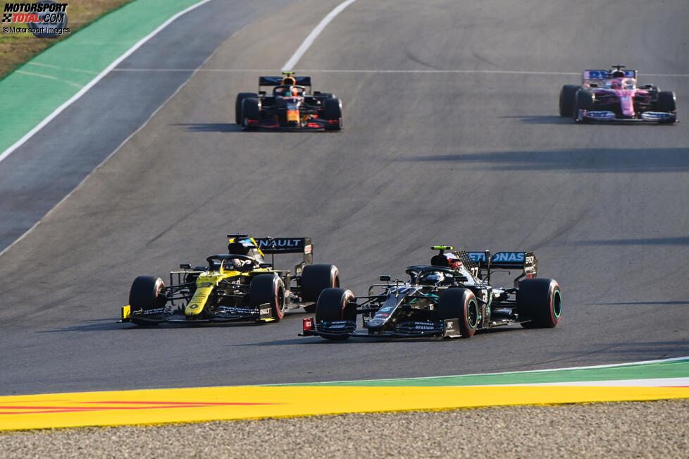 Daniel Ricciardo (Renault) und Valtteri Bottas (Mercedes)