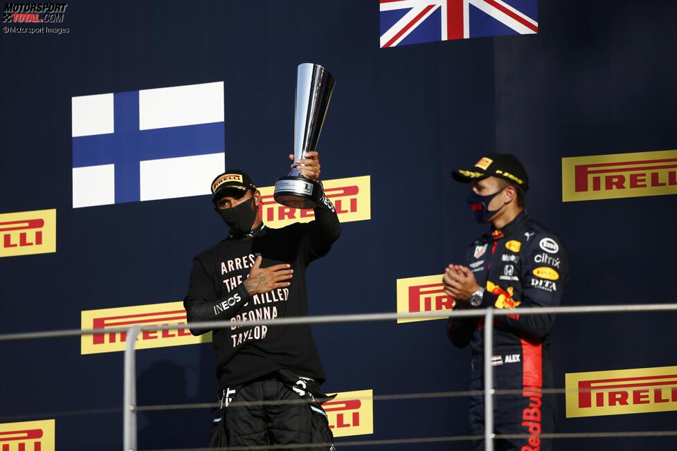 Lewis Hamilton (Mercedes) und Alexander Albon (Red Bull)