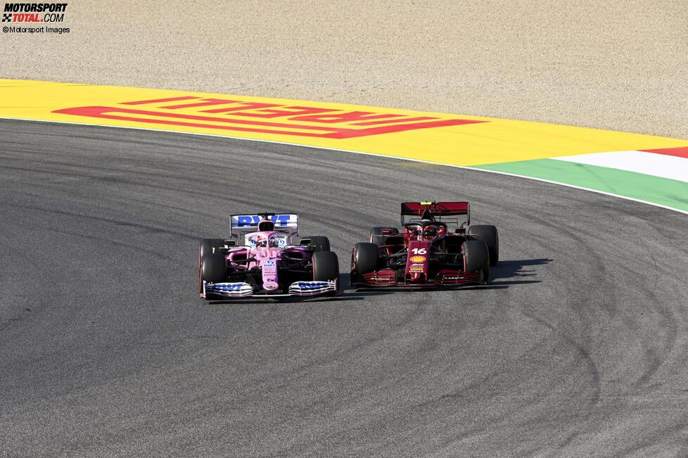 Sergio Perez (Racing Point) und Charles Leclerc (Ferrari)