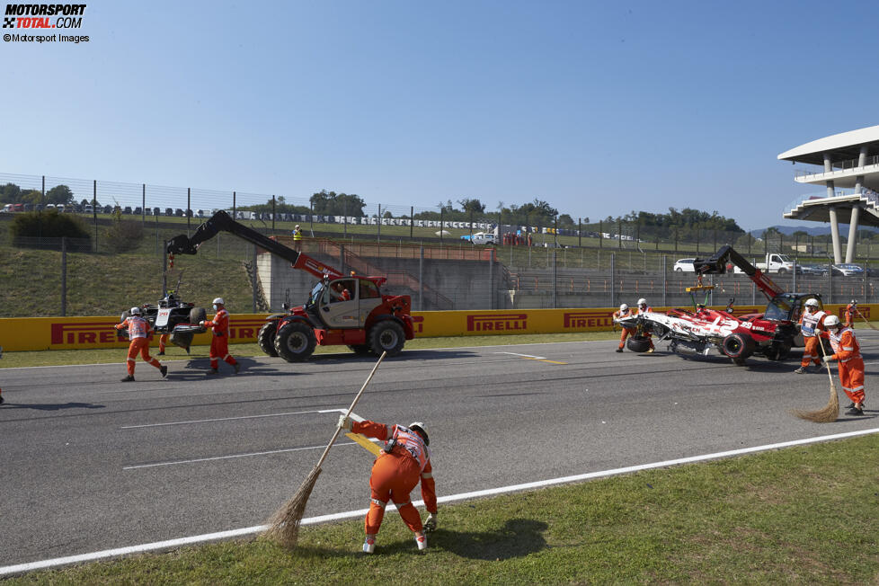 Kevin Magnussen (Haas) und Antonio Giovinazzi (Alfa Romeo)