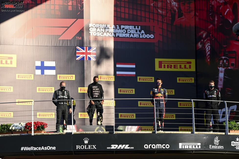 Valtteri Bottas (Mercedes), Lewis Hamilton (Mercedes) und Alexander Albon (Red Bull)