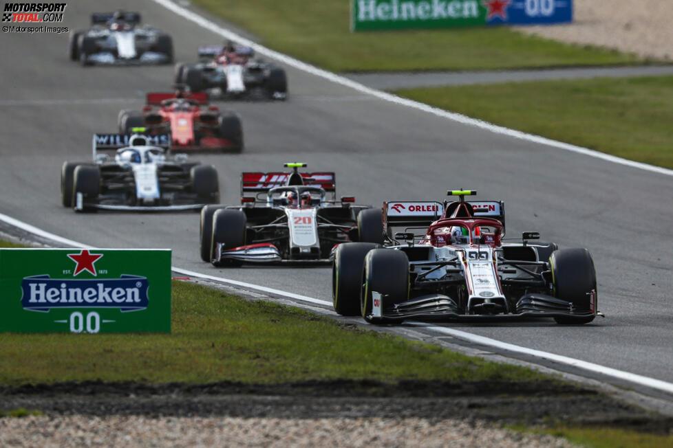 Antonio Giovinazzi (Alfa Romeo), Kevin Magnussen (Haas) und Nicholas Latifi (Williams)
