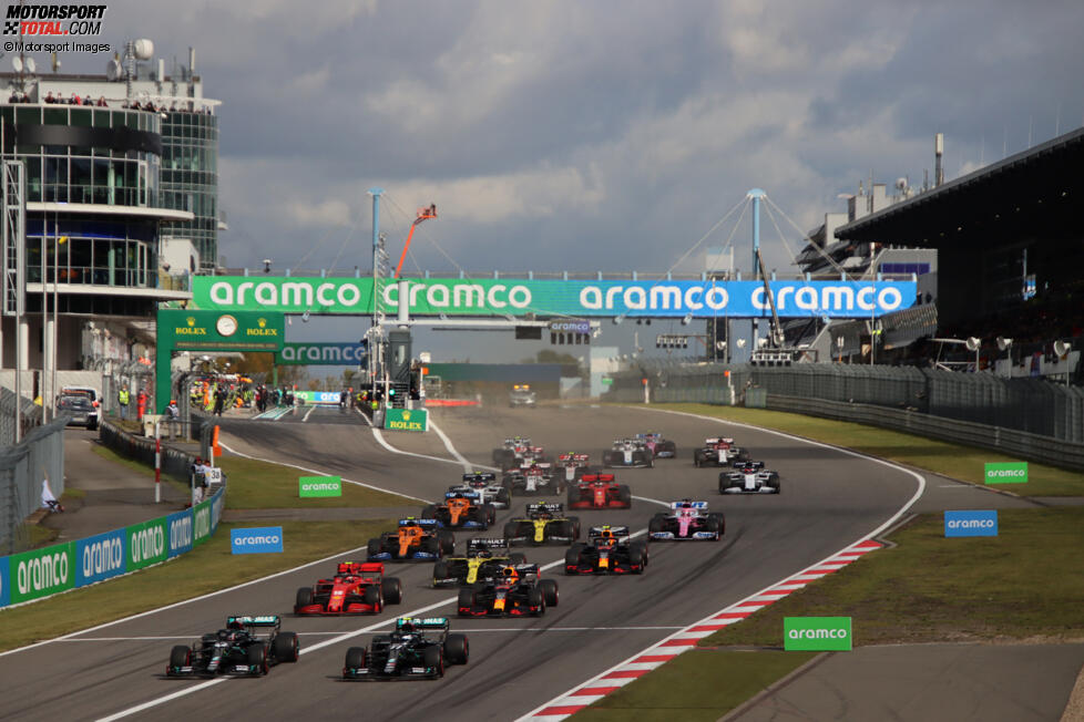 Lewis Hamilton (Mercedes), Valtteri Bottas (Mercedes), Charles Leclerc (Ferrari), Max Verstappen (Red Bull), Daniel Ricciardo (Renault), Lando Norris (McLaren), Alexander Albon (Red Bull), Sergio Perez (Racing Point) und Carlos Sainz (McLaren)