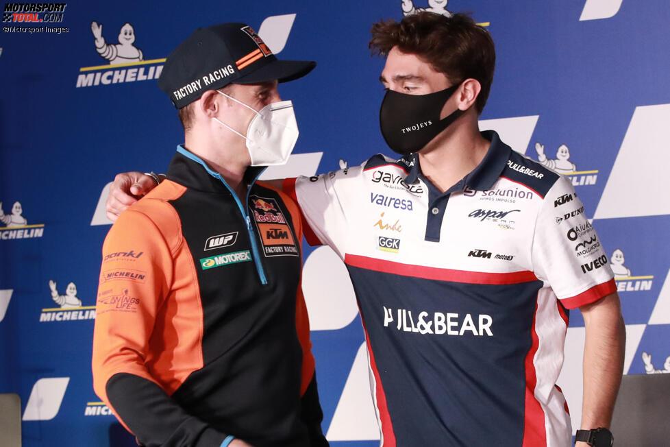 Pol Espargaro (KTM) und Albert Arenas (Aspar)