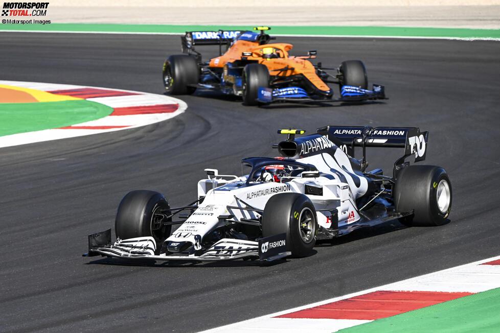 Pierre Gasly (AlphaTauri) und Lando Norris (McLaren)