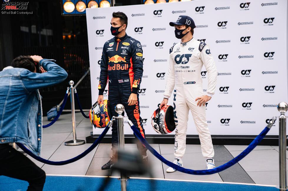 Pierre Gasly (AlphaTauri) und Alexander Albon (Red Bull)
