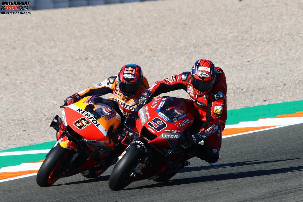 Danilo Petrucci (Ducati) und Stefan Bradl