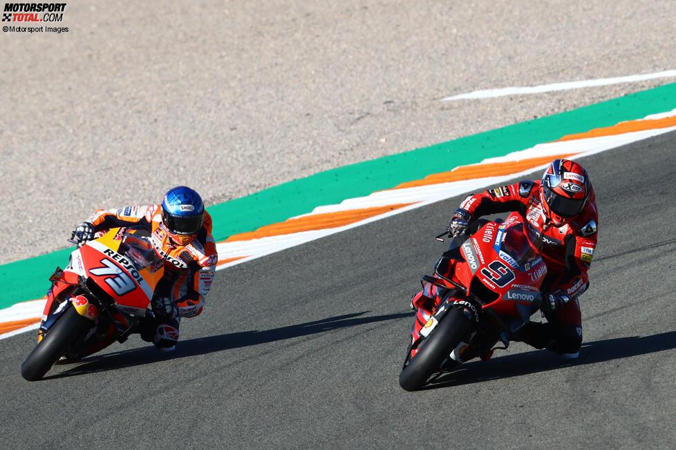 Danilo Petrucci (Ducati) und Alex Marquez (Honda)