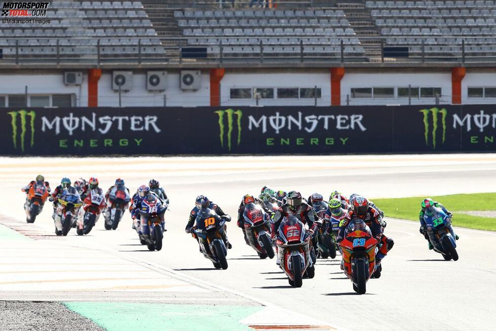 Moto2-Start in Valencia