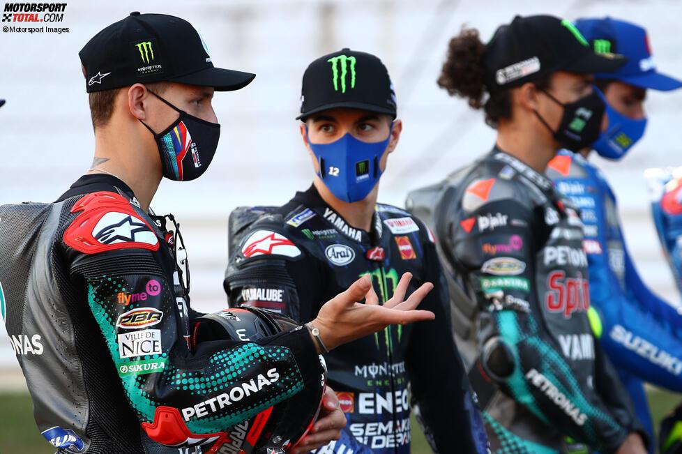 Fabio Quartararo (Petronas) und Maverick Vinales (Yamaha)