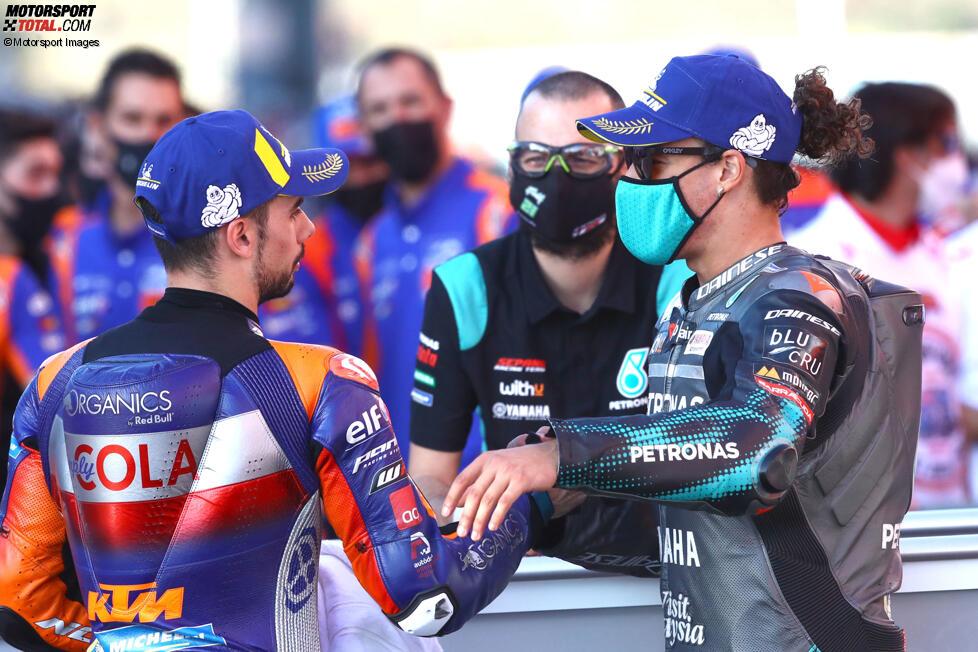 Miguel Oliveira (Tech 3) und Franco Morbidelli (Petronas)