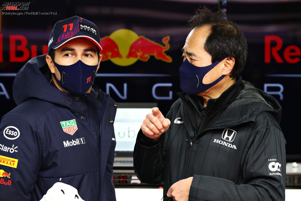 Sergio Perez (Red Bull) und Mark Thompson