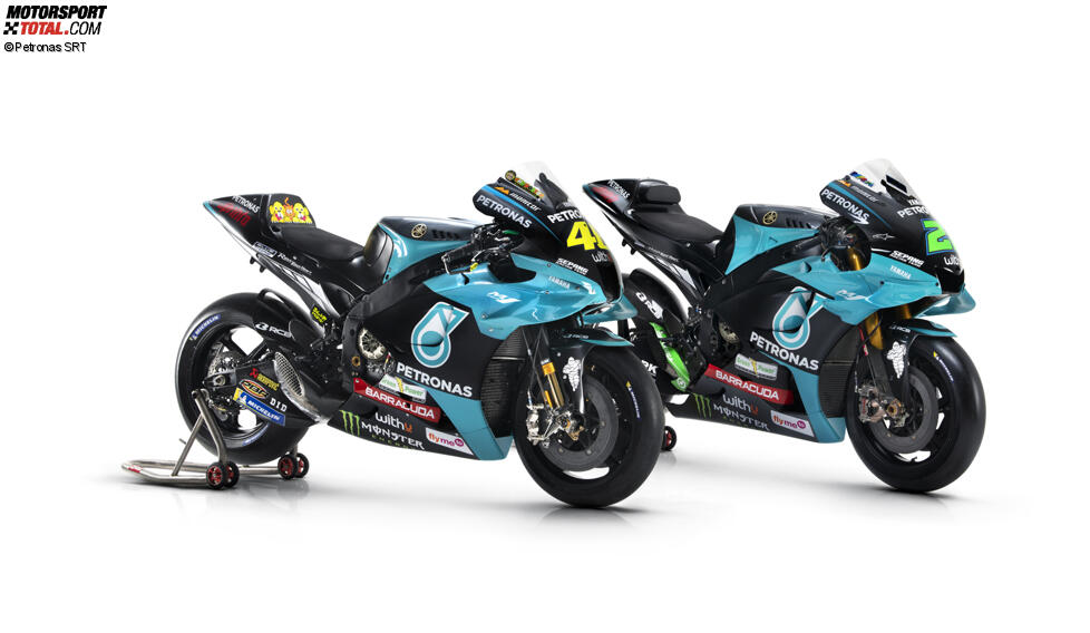 Die Yamahas von Valentino Rossi und Franco Morbidelli