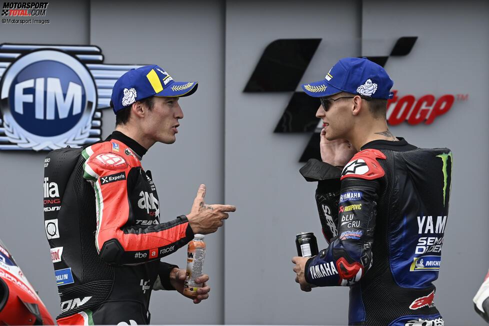 Fabio Quartararo (Yamaha) und Aleix Espargaro (Aprilia)