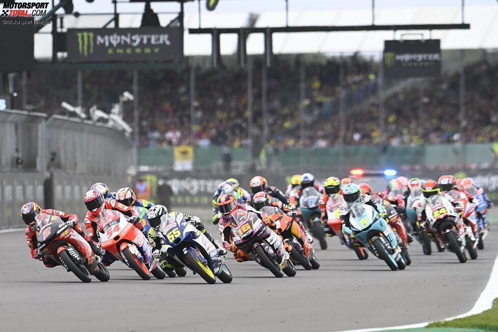 Moto3 Start in Silverstone