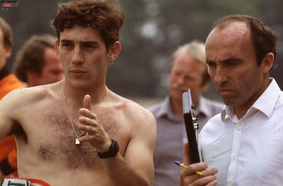 Nach beeindruckenden Leistungen im Kart- und Formelsport darf Senna 1983 für diverse Formel-1-Teams testen. Nach Probefahrten für Williams (Foto), McLaren, Brabham und Toleman unterschreibt der Brasilianer zur Überraschung vieler beim unterlegenen Toleman-Rennstall einen Dreijahresvertrag für die Saisons 1984 bis 1986 - weil er dort als Neuling direkt die Nummer 1 im Team sein kann.