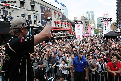 """Kaum eine Stadt lebt und atmet die Formel 1 so sehr wie Montreal. Von dieser Atmosphäre, die dieses Jahr ein wenig durch Studentenproteste getrübt wurde, lässt sich sogar """"Iceman"""" Kimi Räikkönen anstecken."""
