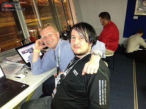 Motorsport-Total.com für Sie in Le Mans im Einsatz: Sportwagen-Experte Roman Wittemeier (links) und Chefredakteur Christian Nimmervoll.