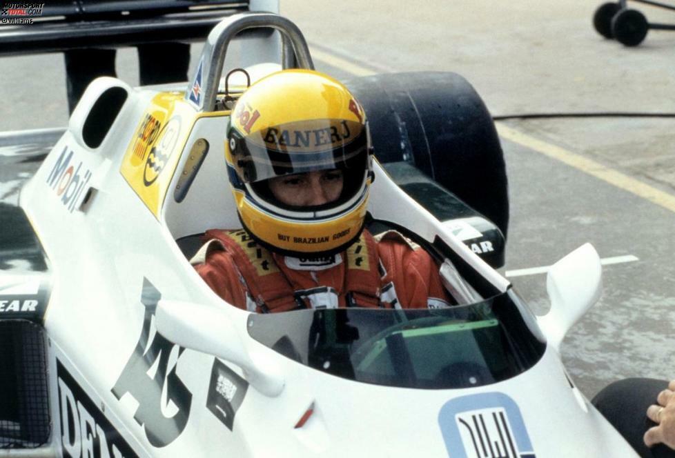 19. Juli 1983: Ayrton Senna, Gesamtführender der Britischen Formel-3-Meisterschaft (die er nach Kampf mit Martin Brundle auch gewinnen sollte), absolviert seinen ersten Formel-1-Test - in Donington auf Williams.