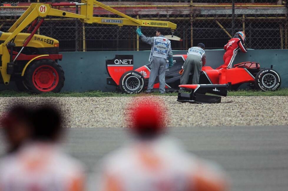 Timo Glock (Marussia-Cosworth), erstes Freies Training zum Grand Prix von China in Schanghai.