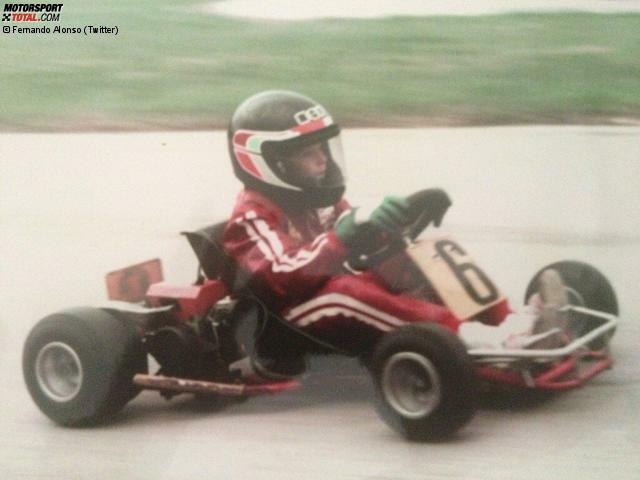 Fernando Alonso has won two world titles and 30 Grand Prix victories, earning an estimated 150 million euros in Formula 1, but he started everything in go-karting, here at the tender age of nine.